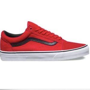 0f58a474b4df Vans Shoes - Vans Old Skool C P Racing Red Black Skating Shoes